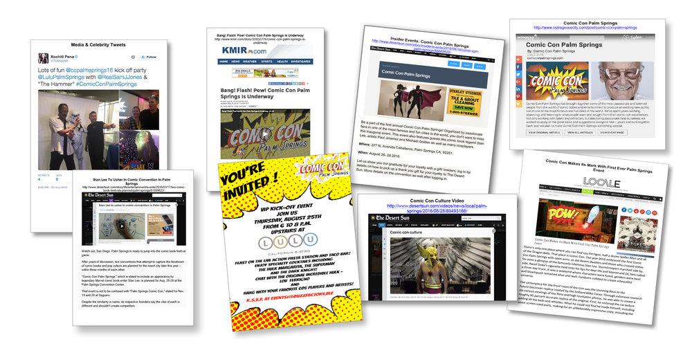 PR Campaign for Comic Con Palm Springs