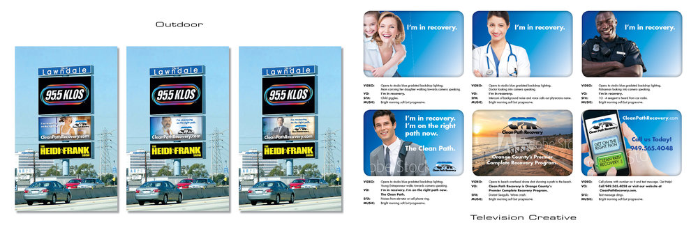 Outdoor billboards, television (TV) creative.